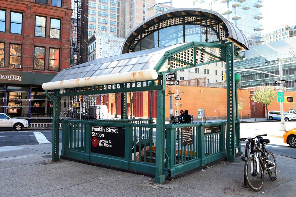 Franklin Street Subway Station in Tribeca