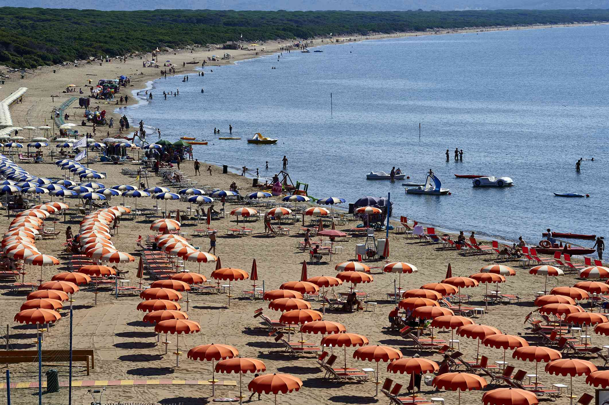 Feniglia beach in high summer season