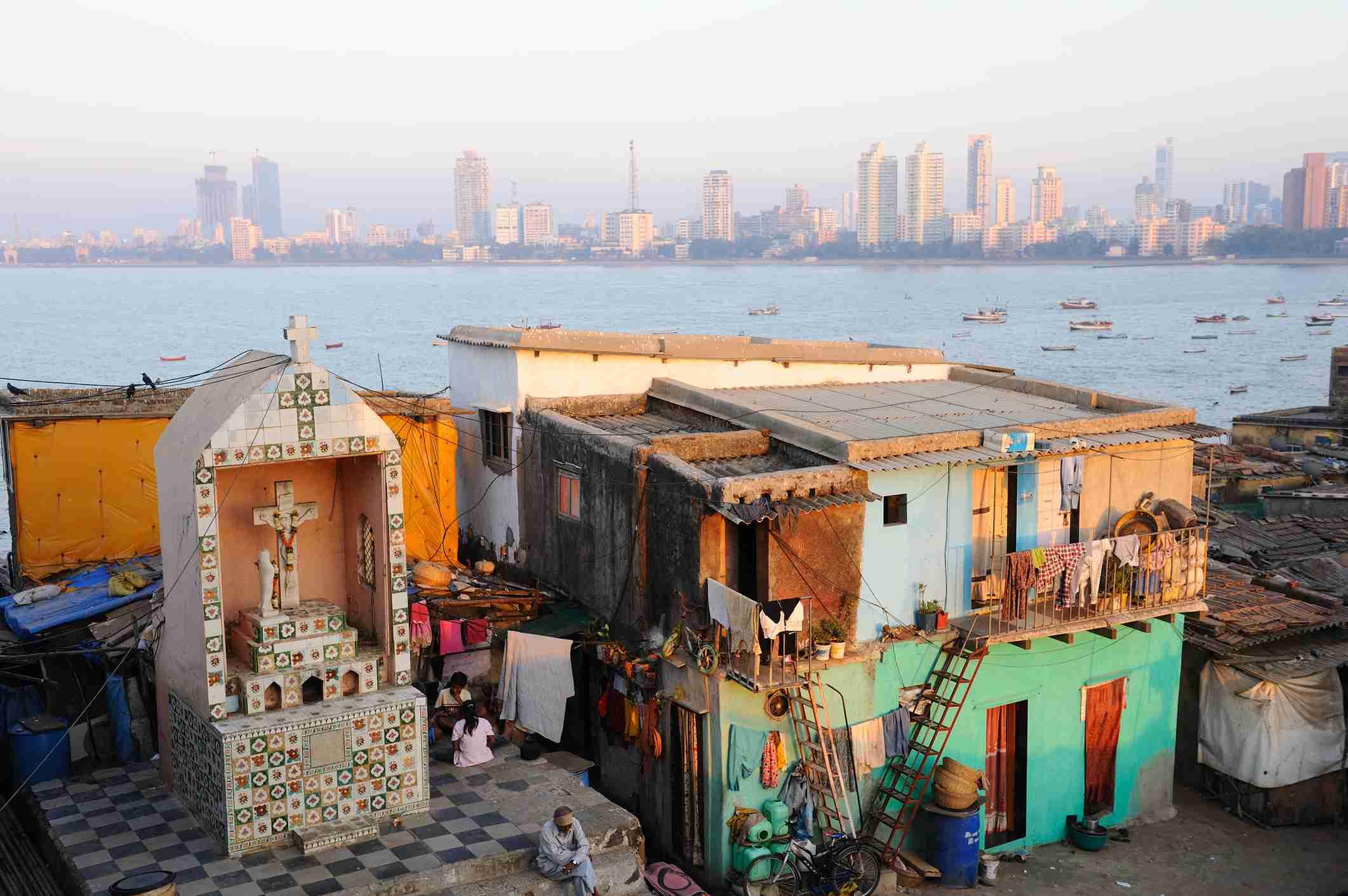 Worli fishing village, Mumbai.