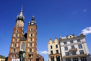 St. Mary`s Basilica in Krakow, Poland