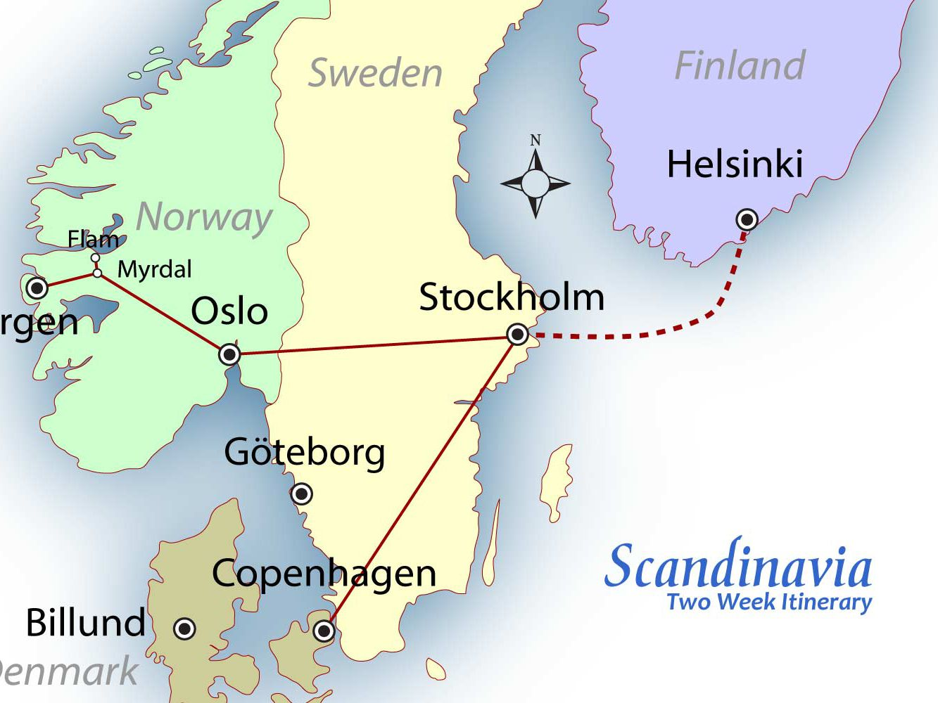 Scandinavia Suggested Itinerary
