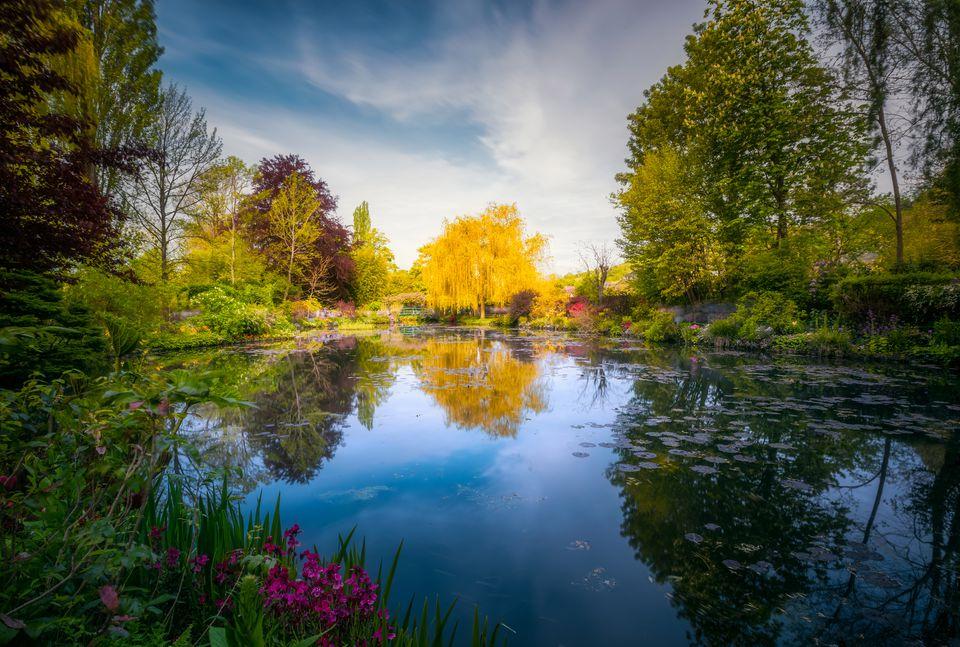 Pasarela japonesa, jardín de Claude Monet, Giverny, Francia