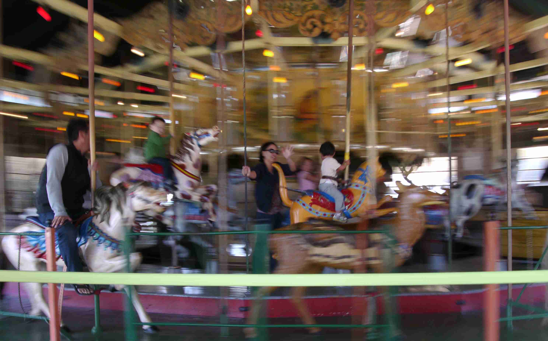 The carousel in Balboa Park, San Diego
