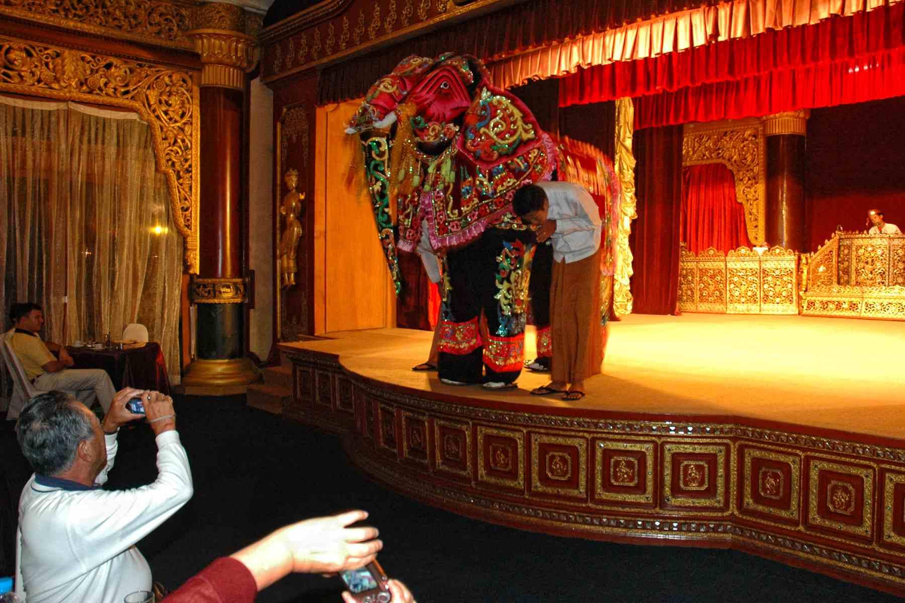Elephant dancers at Kyaukse