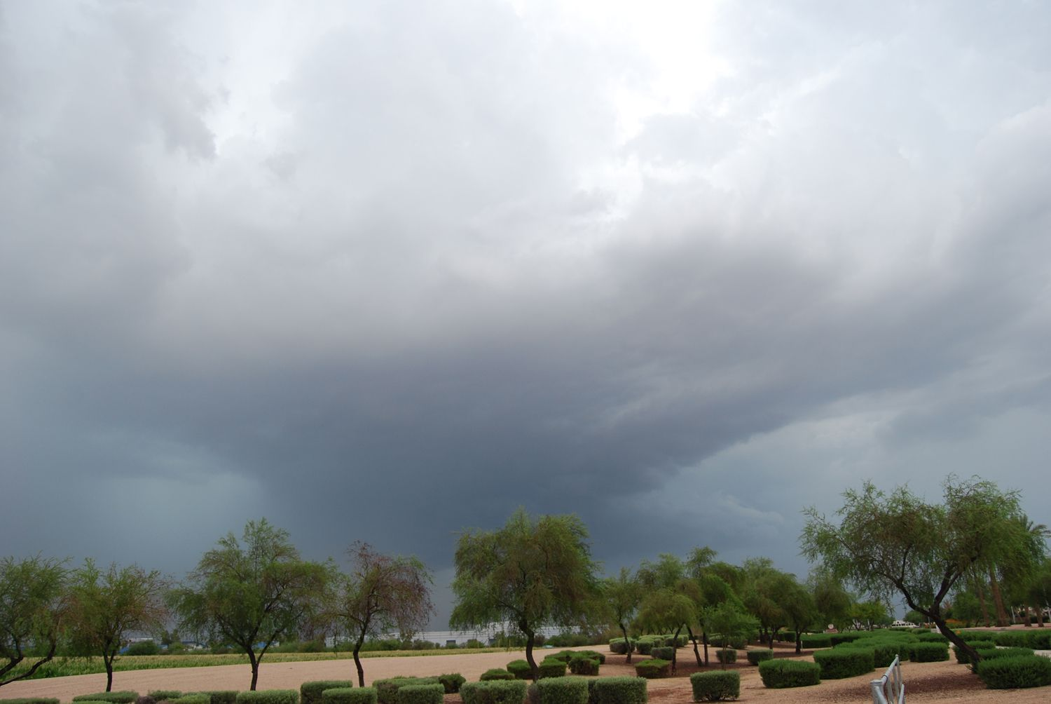 Formation of a Microburst in Phoenix