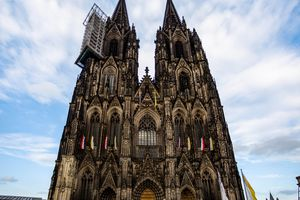 The facade of the Cologne Cathedral
