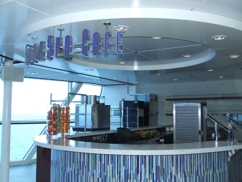 The Counter at the AquaSpa Cafe on the Celebrity Solstice Cruise Ship