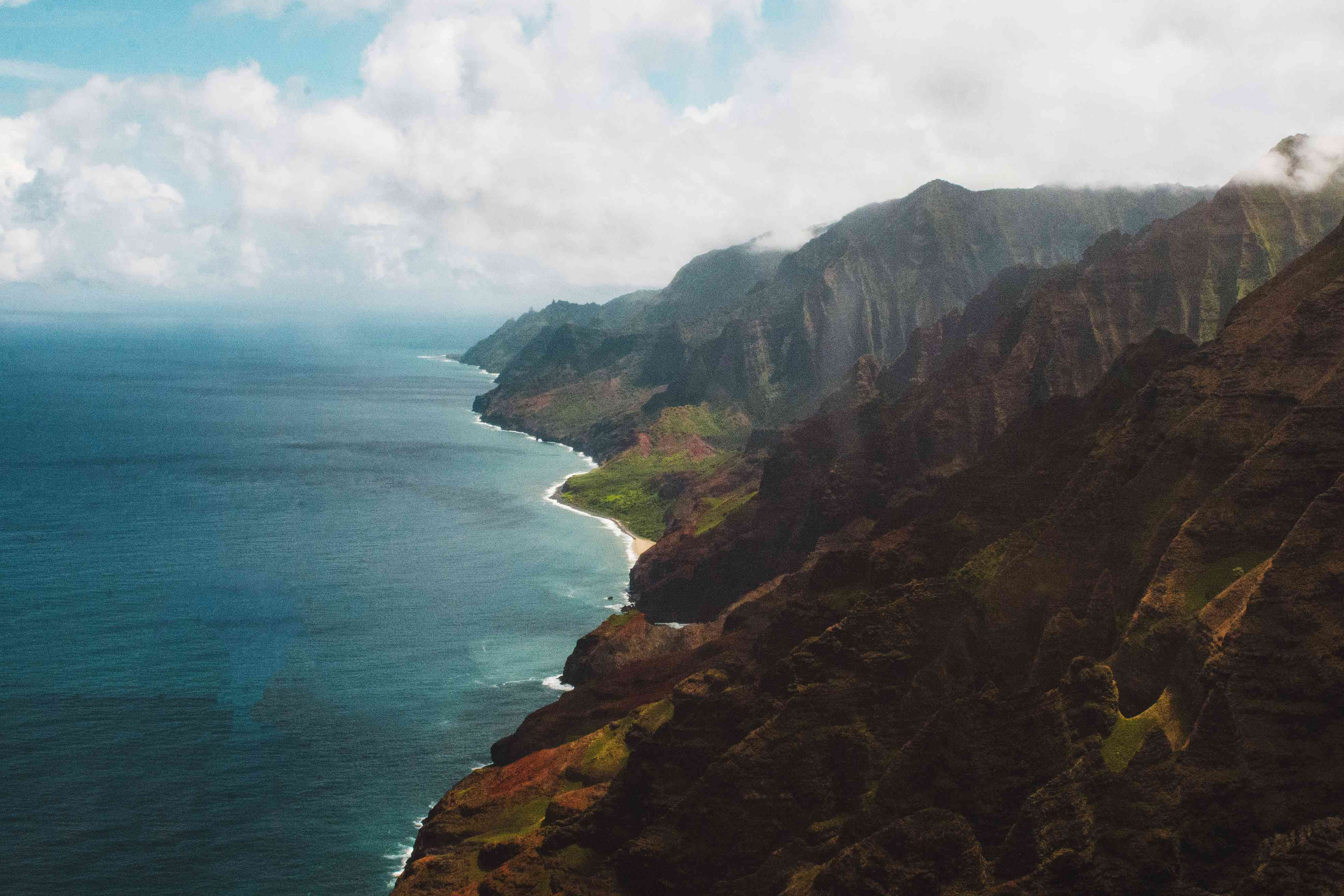 View of Napali Coast from Blue Hawaiian Helicopters