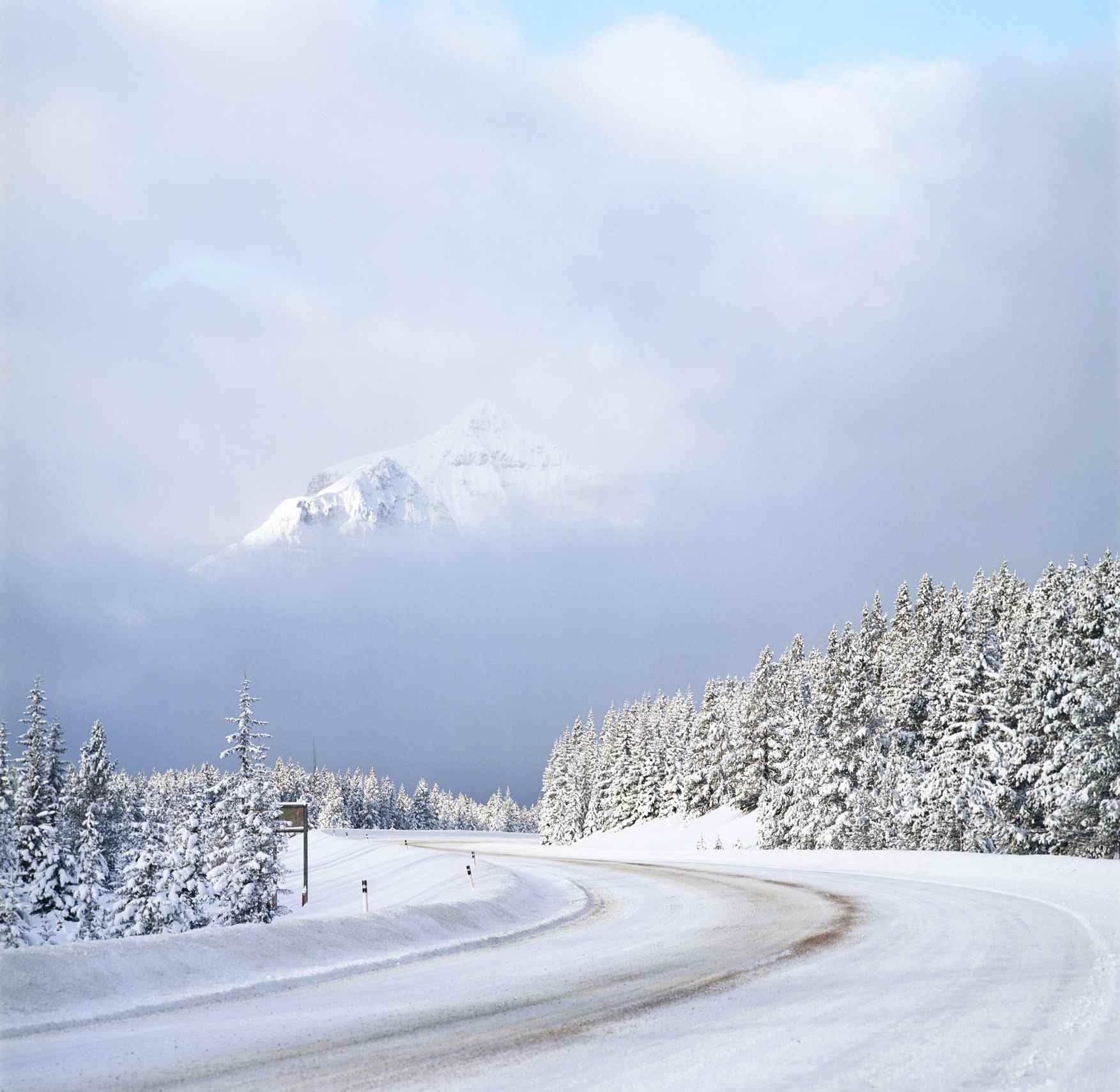 Caminos de invierno en Columbia Británica, Canadá
