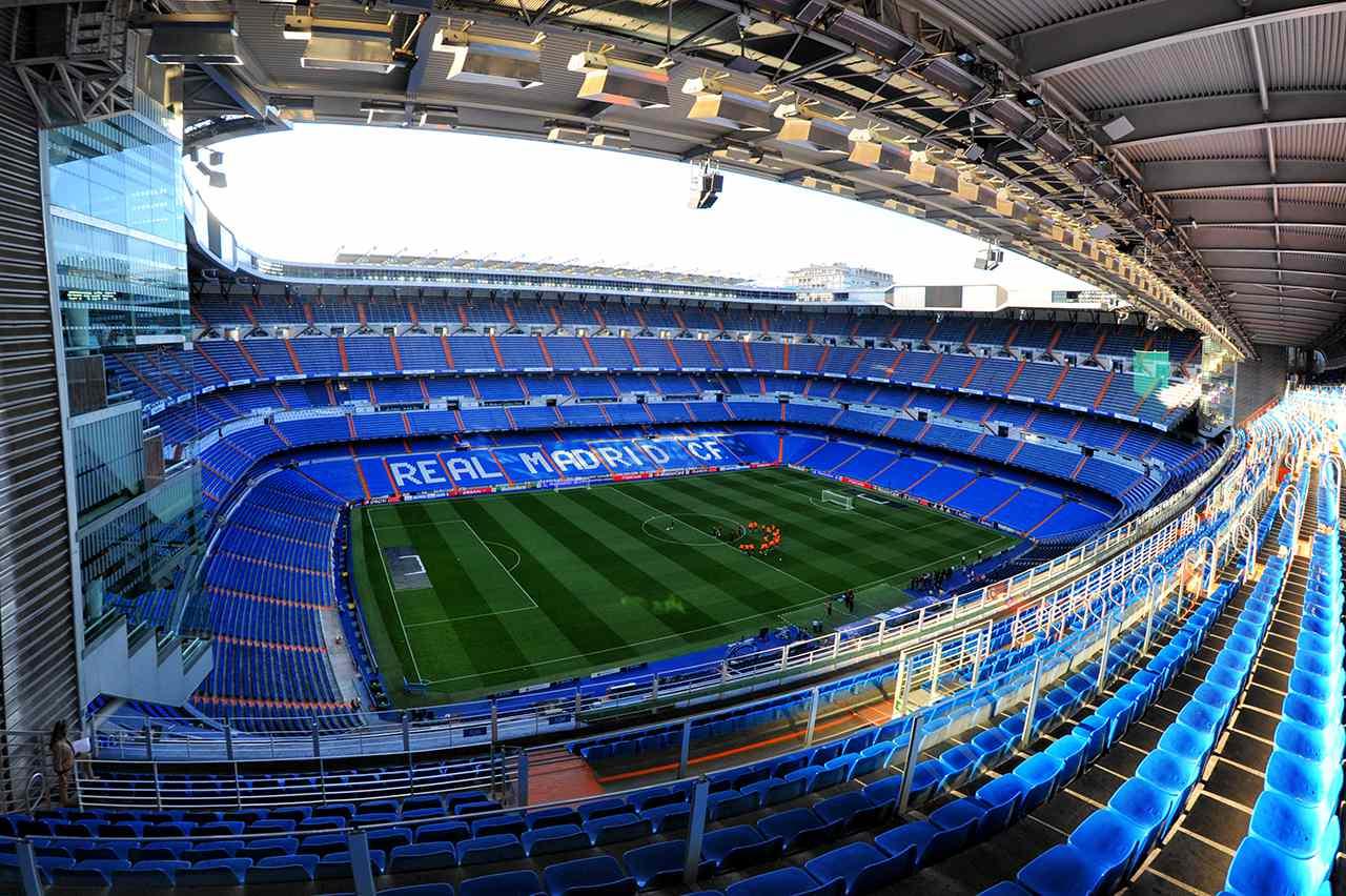 Santiago Bernabéu Stadium, home of Real Madrid, Spain