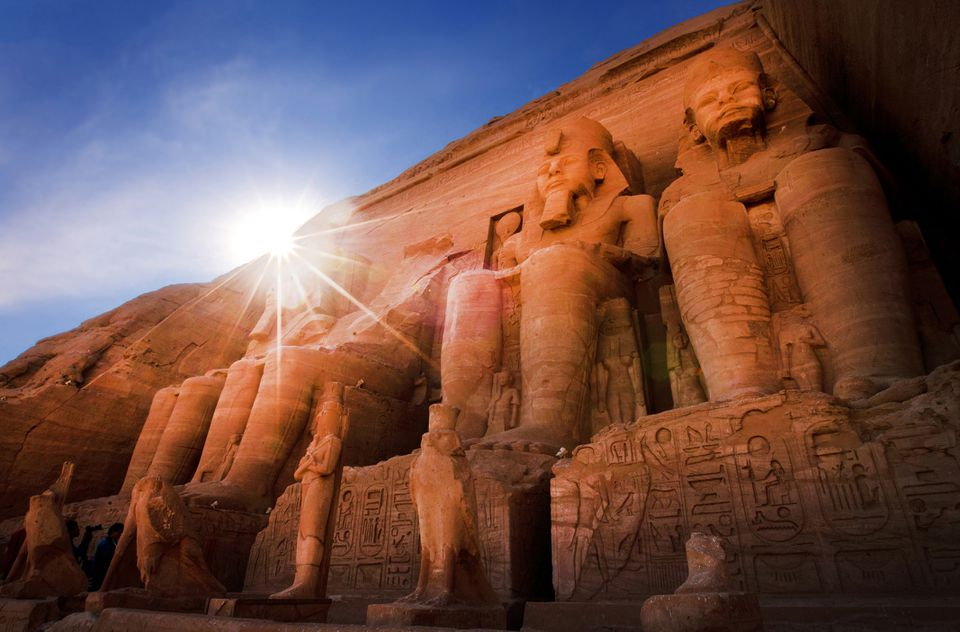 The Abu Simbel temple, Egypt