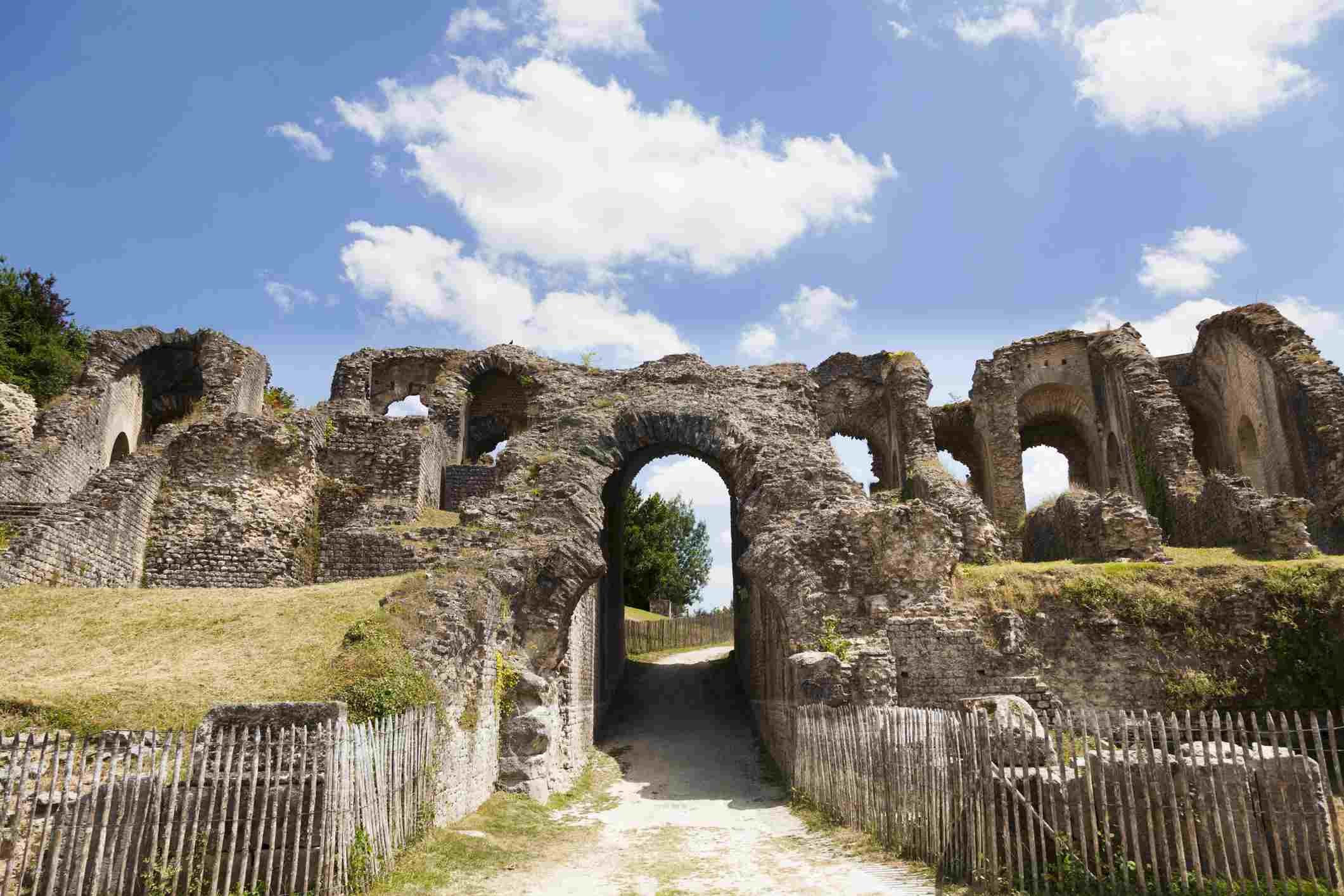 Entrance to the arena of the Roman amphitheatre in Saintes in France