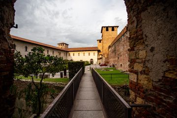 Castelvecchio Courtyard in Verona, Italy