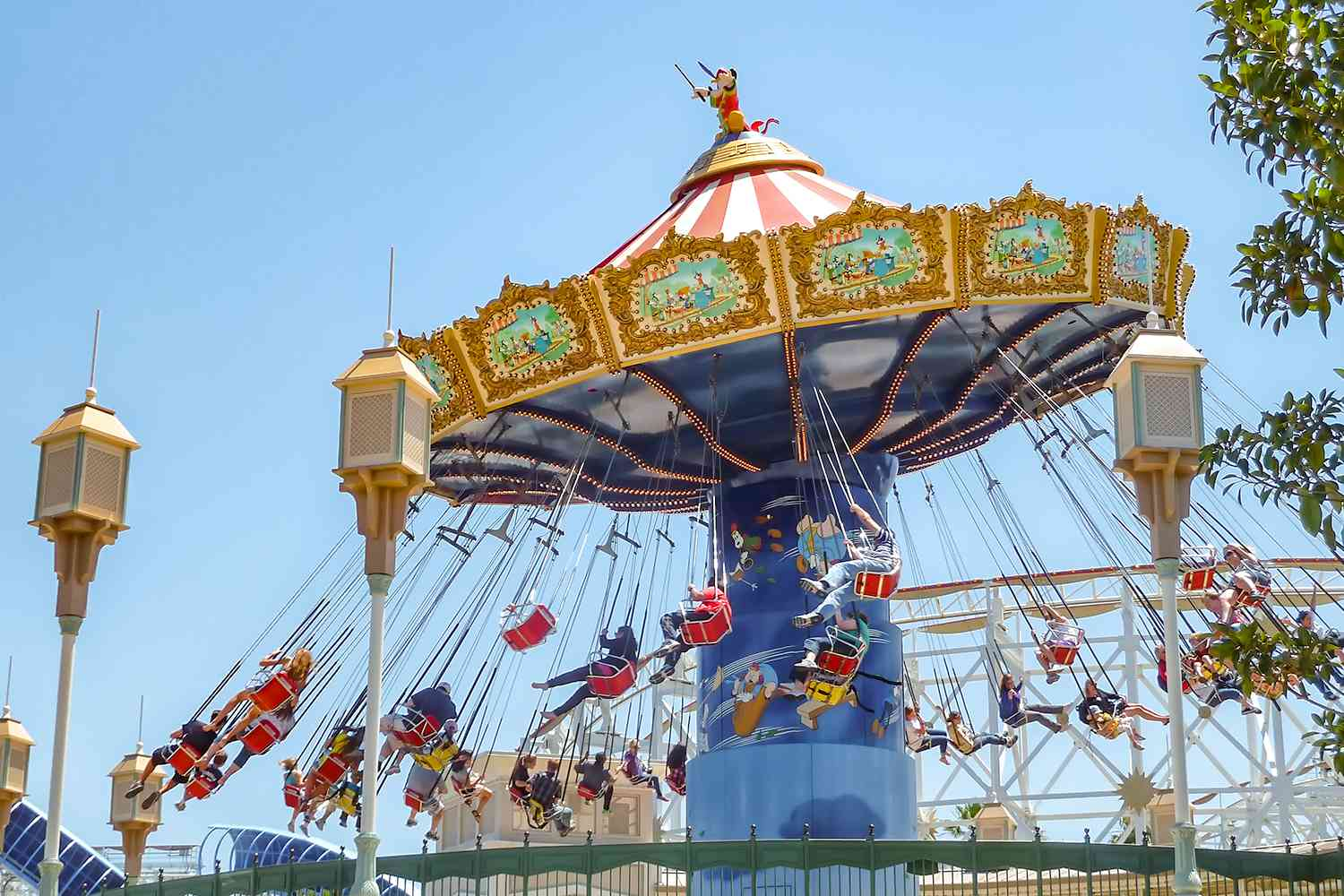 Riding Silly Symphony Swings