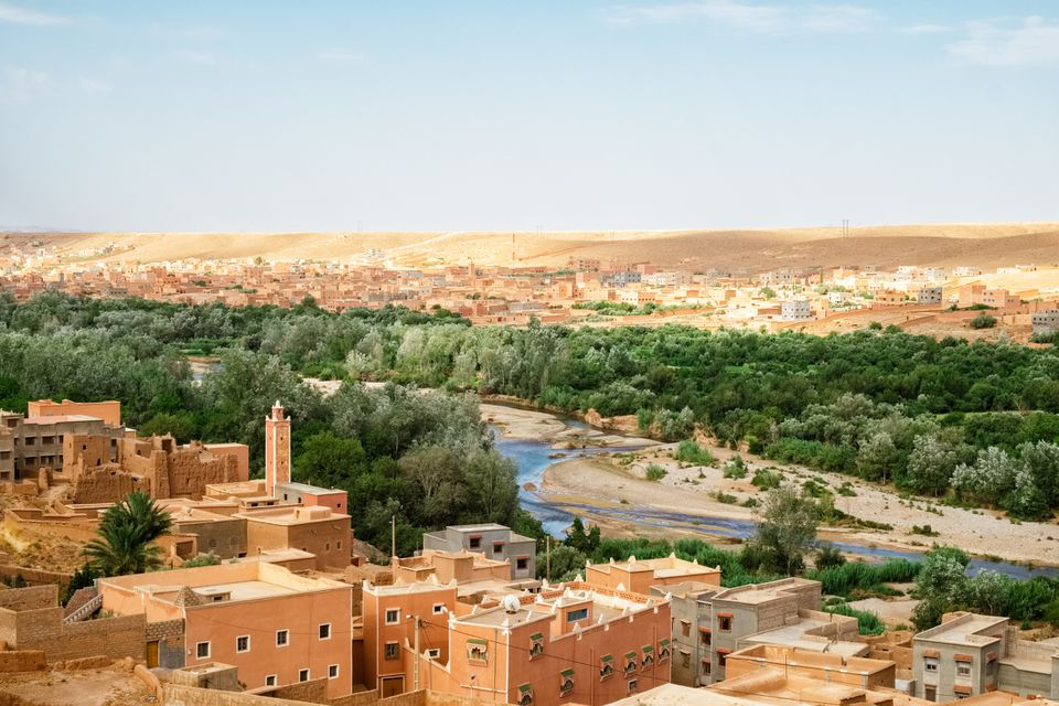 Aerial view of Zagora in southeastern Morocco