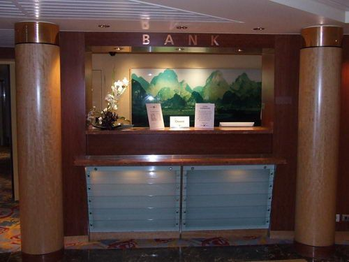Celebrity Infinity Bank in the Reception Area
