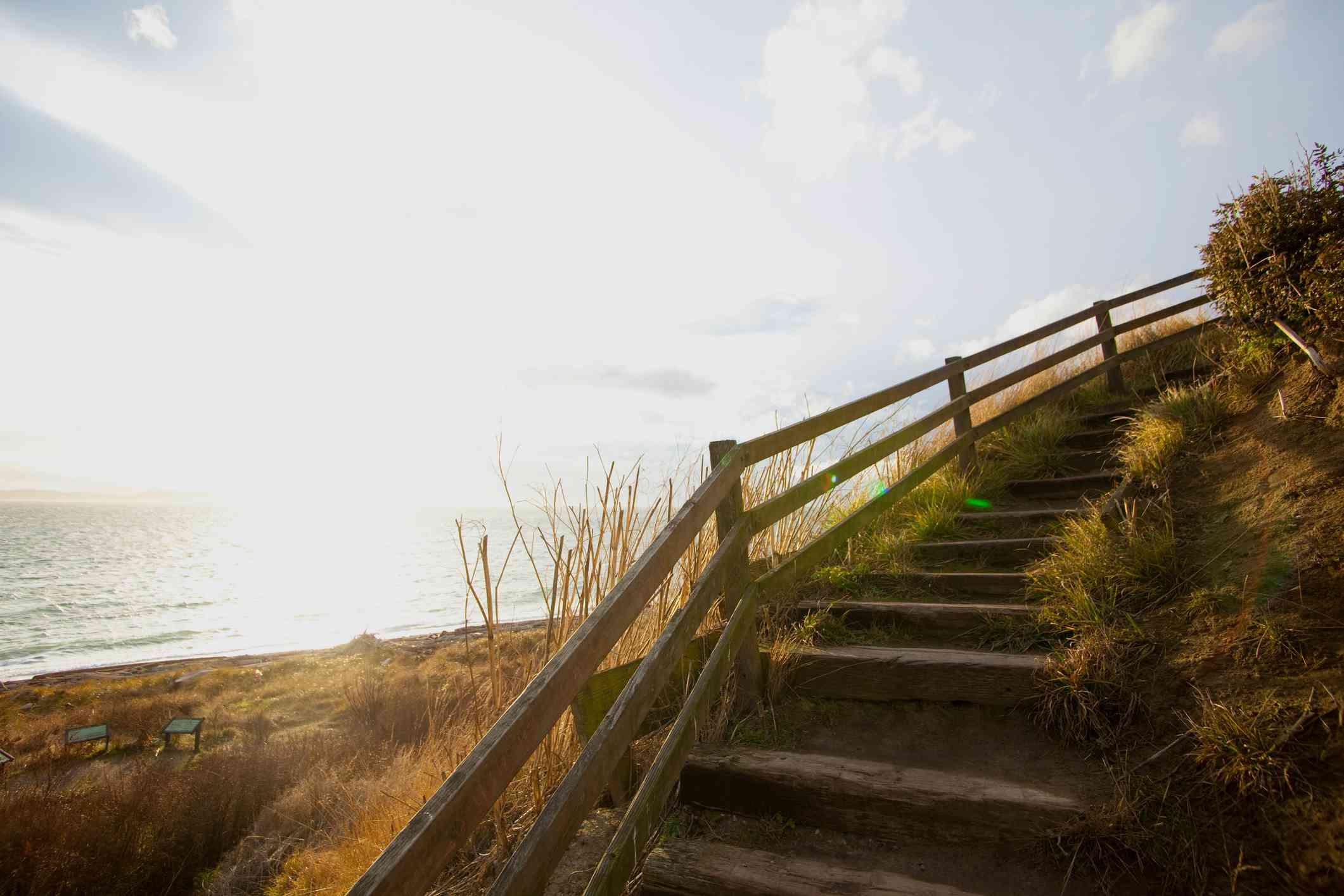 langkah kayu, Landing Ebey ini, Washington State, Amerika Syarikat