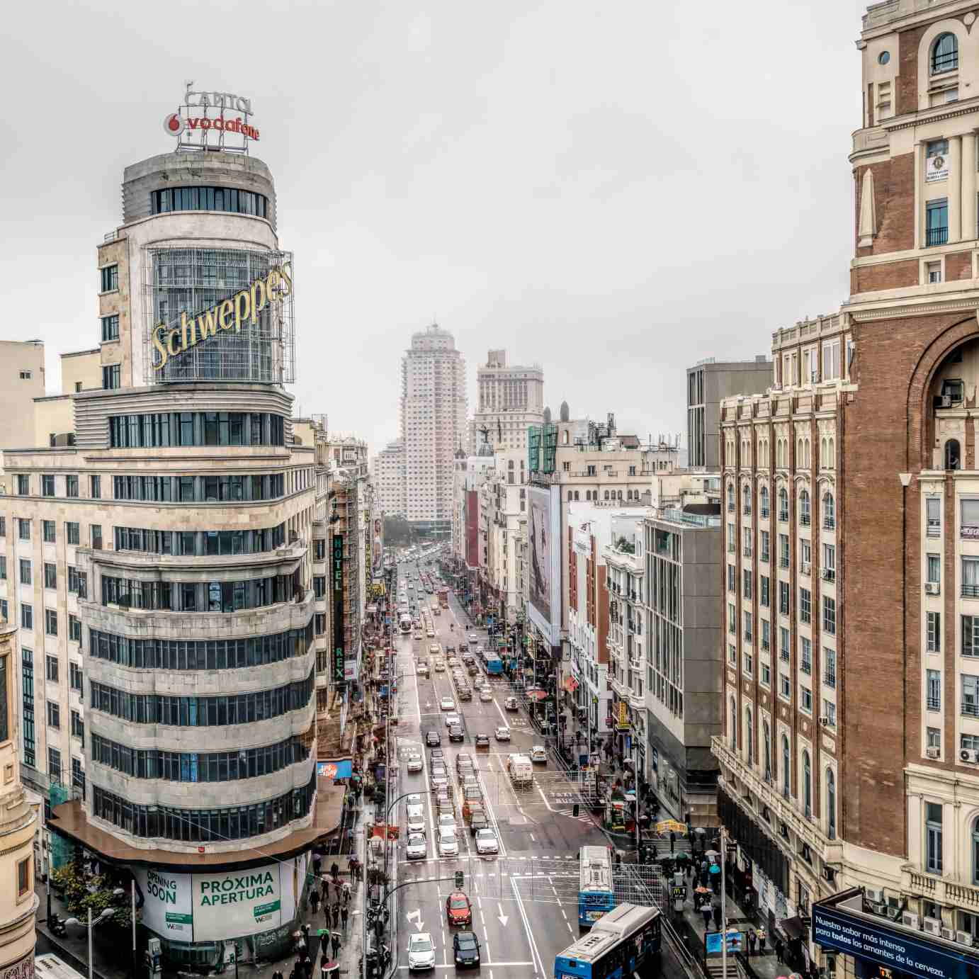 A list of activities around Sol and Gran Via in Madrid