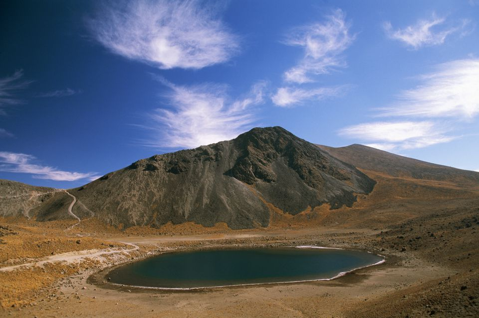 Lake in Nevado de Toluca Volcano