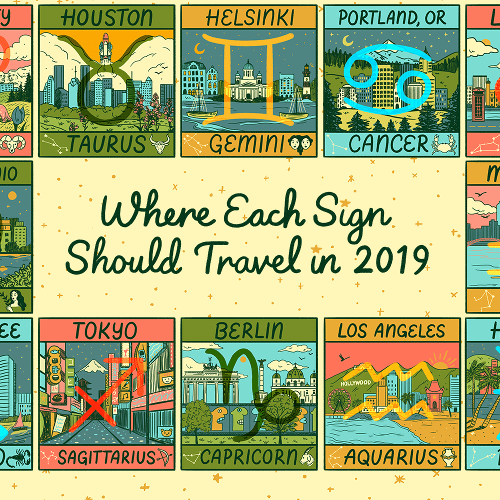 Where Each Sign Should Travel in 2019