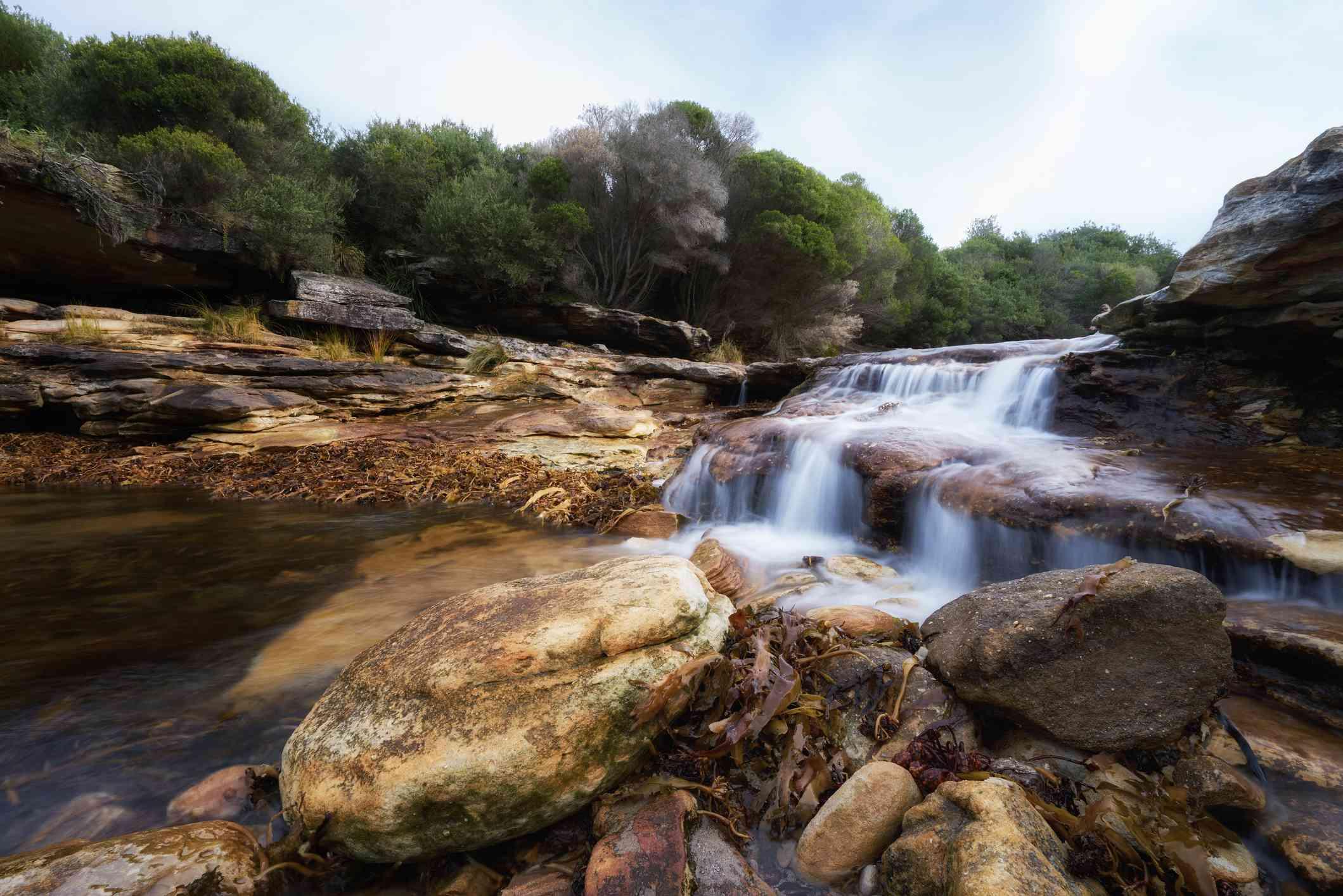 Small waterfall at Royal National Park