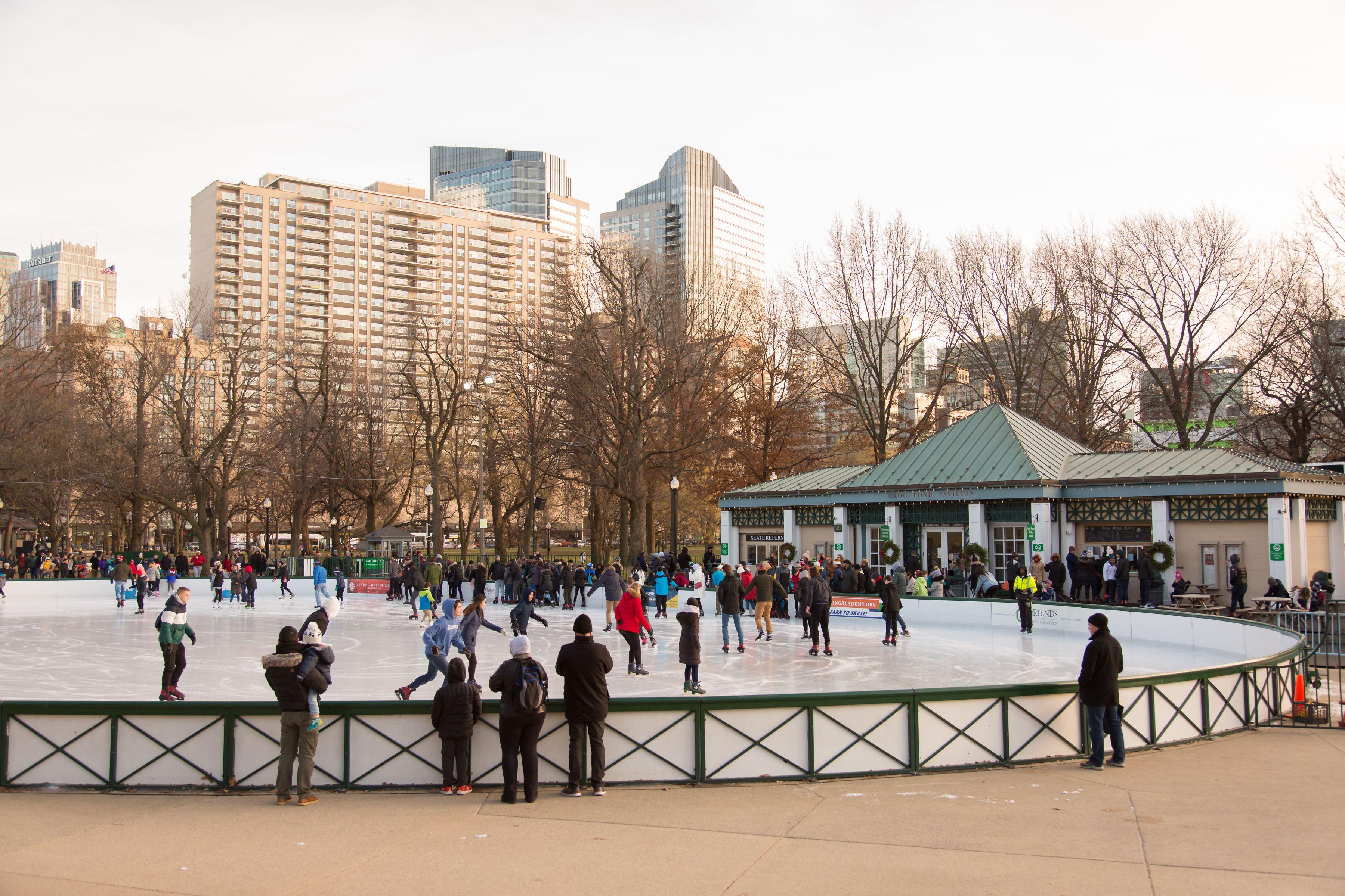 Pista de patinaje sobre hielo en Boston Commons