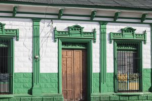 Colorful architecture of Ahuachapan