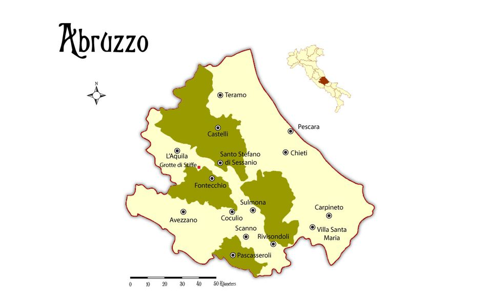 Abruzzo Italy Map Map and Places to Go in the Abruzzo Region in Italy Abruzzo Italy Map