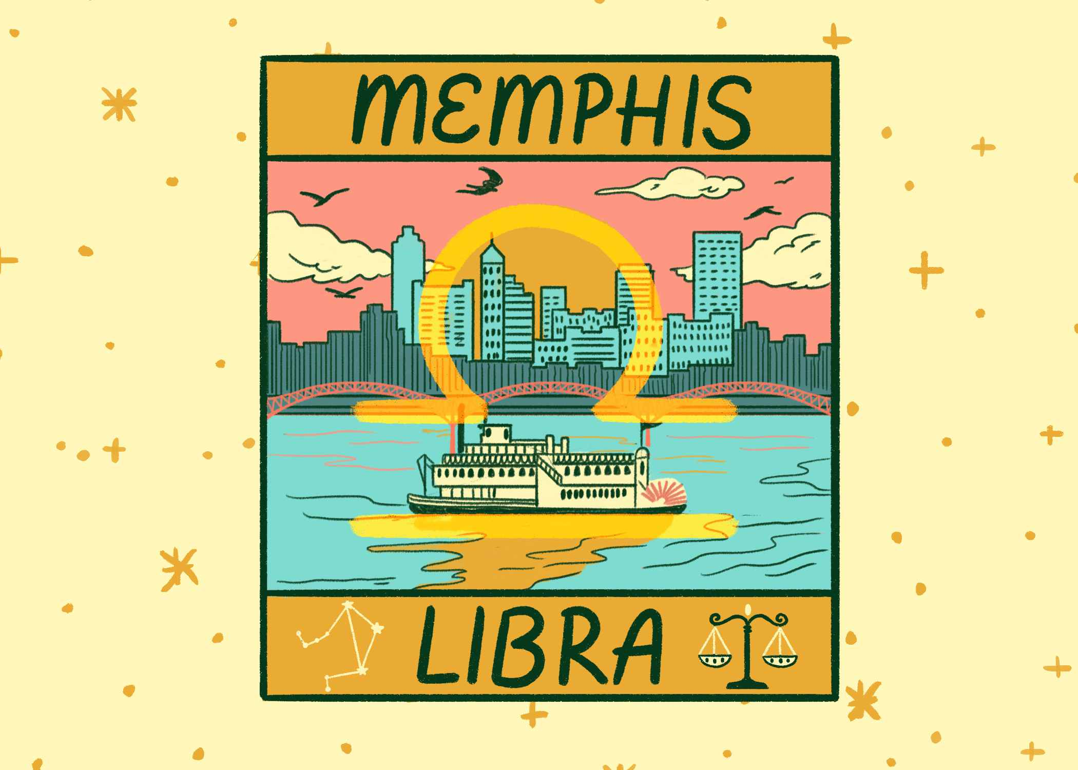Illustration of Memphis and Libra