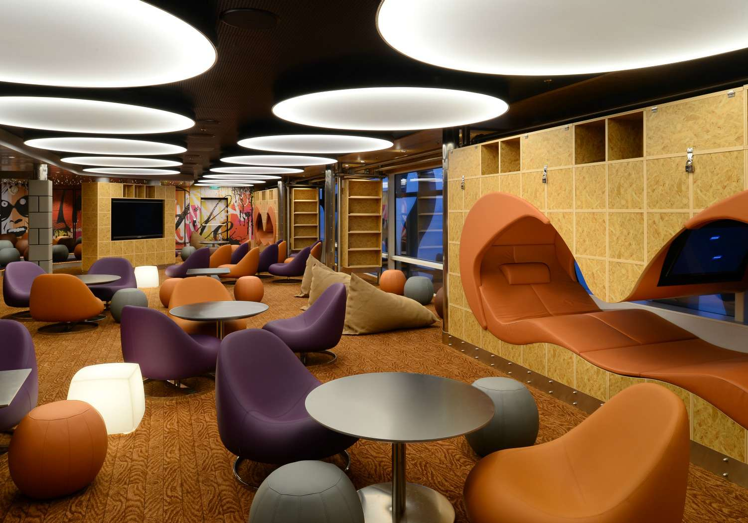 Living Room Teen Lounge on Anthem of the Seas