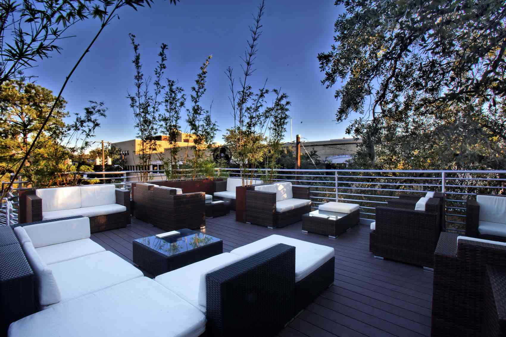 Roof deck seating at Courtesy of The Perch at Local 11 Ten