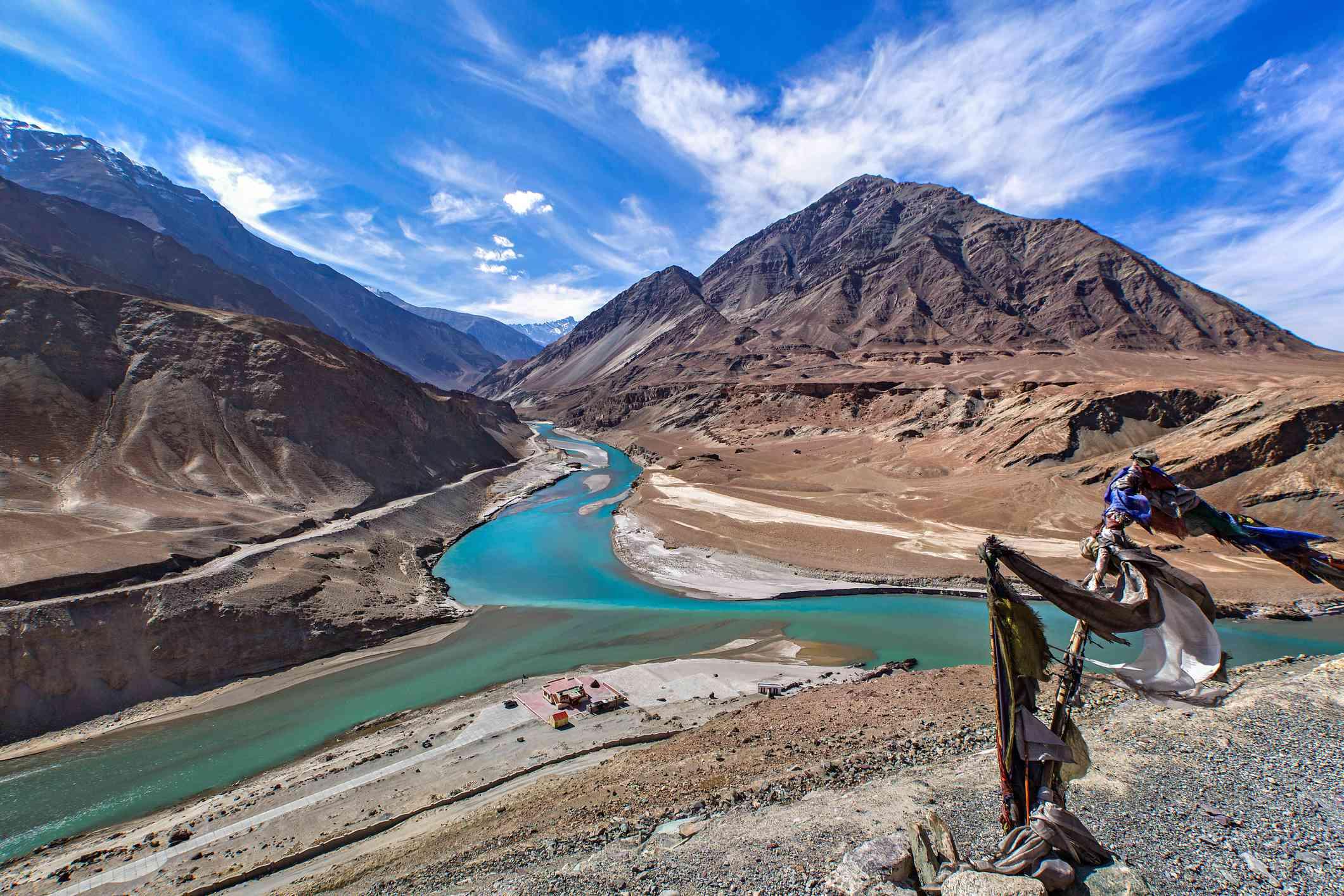 Indus Zanskar confluence