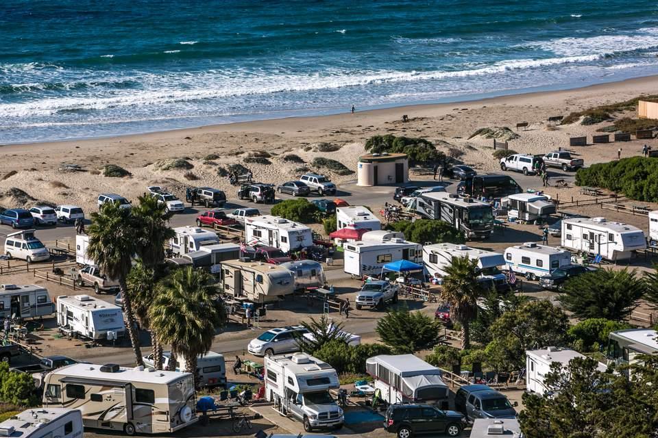 Camping at Jalama Beach Near Santa Barbara
