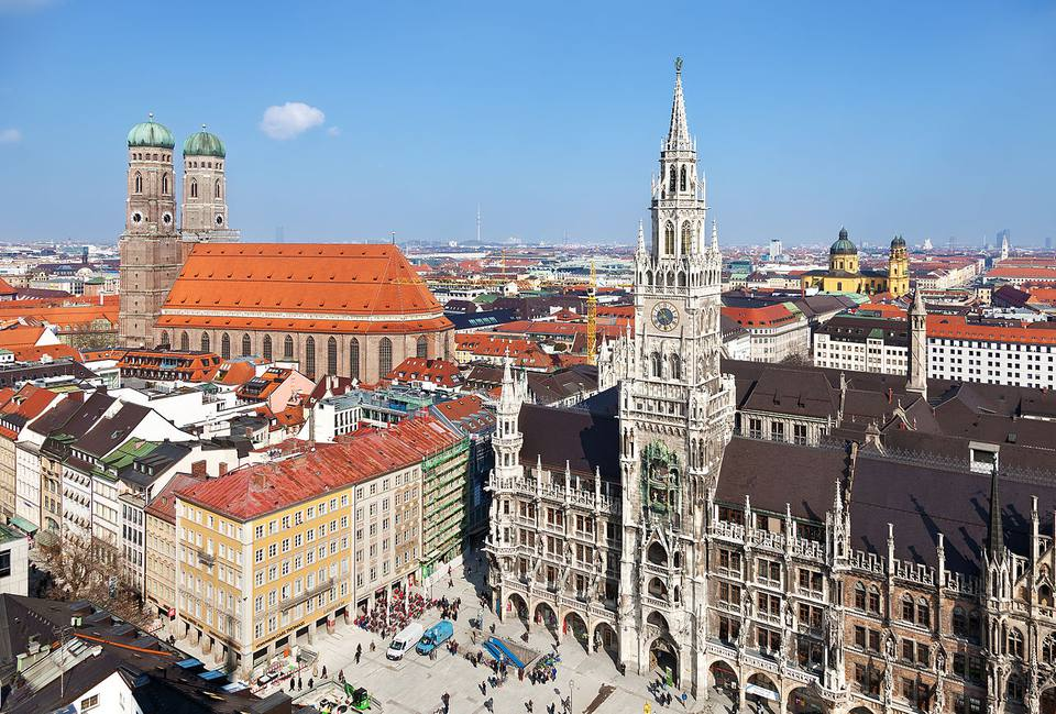 The cityscape of Munich, Germany