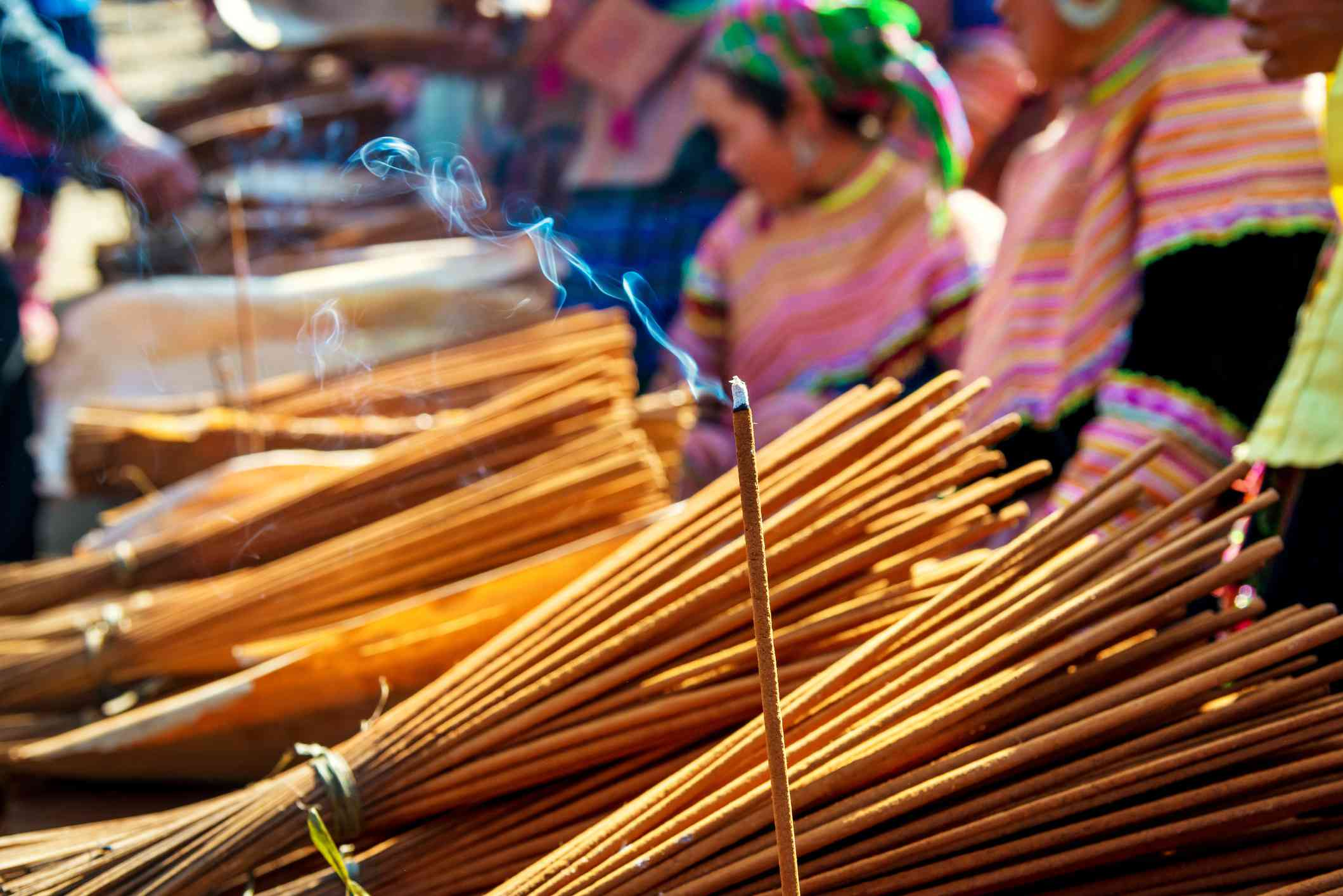 Joss sticks for sale at Bac Ha Market, Sapa, Vietnam