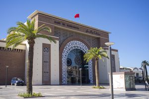Exterior view of Marrakesh train station