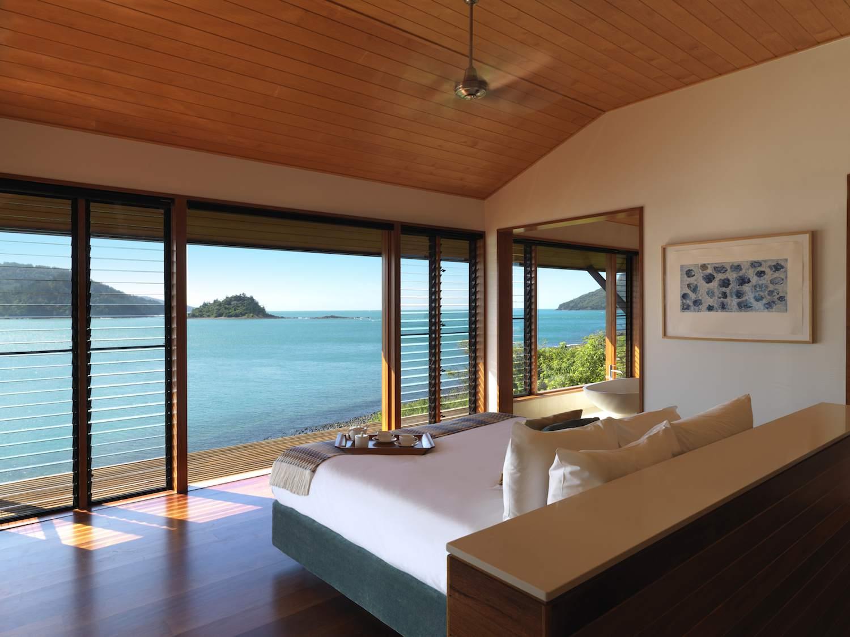 Un habitación frente al océano en el complejo Qualia