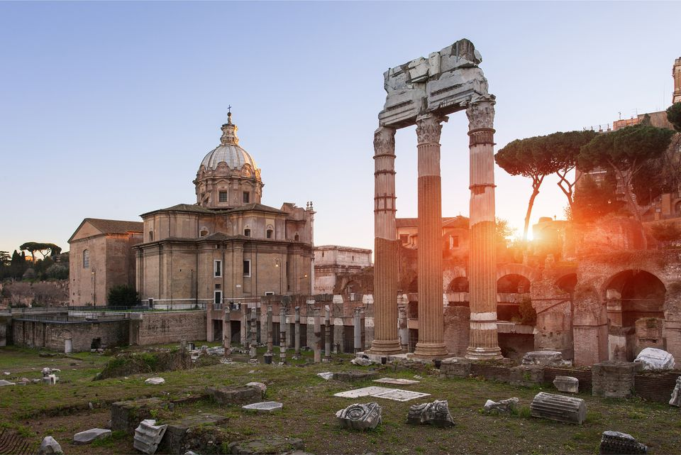 Italy, Lazio, Rome, historical center listed as World Heritage by UNESCO, the Roman Forum