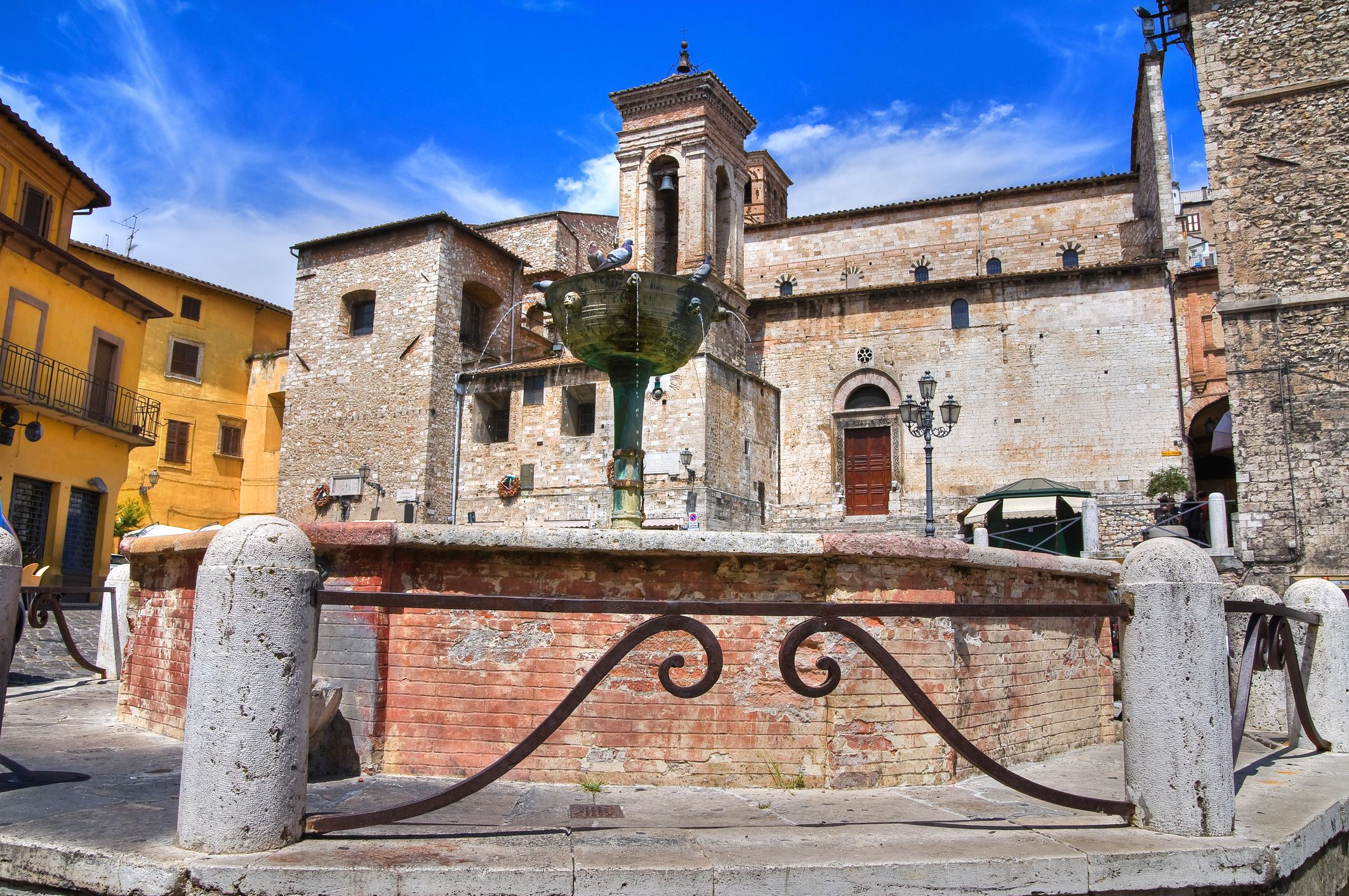 Monumental fountain, Narni, Umbria, Italy