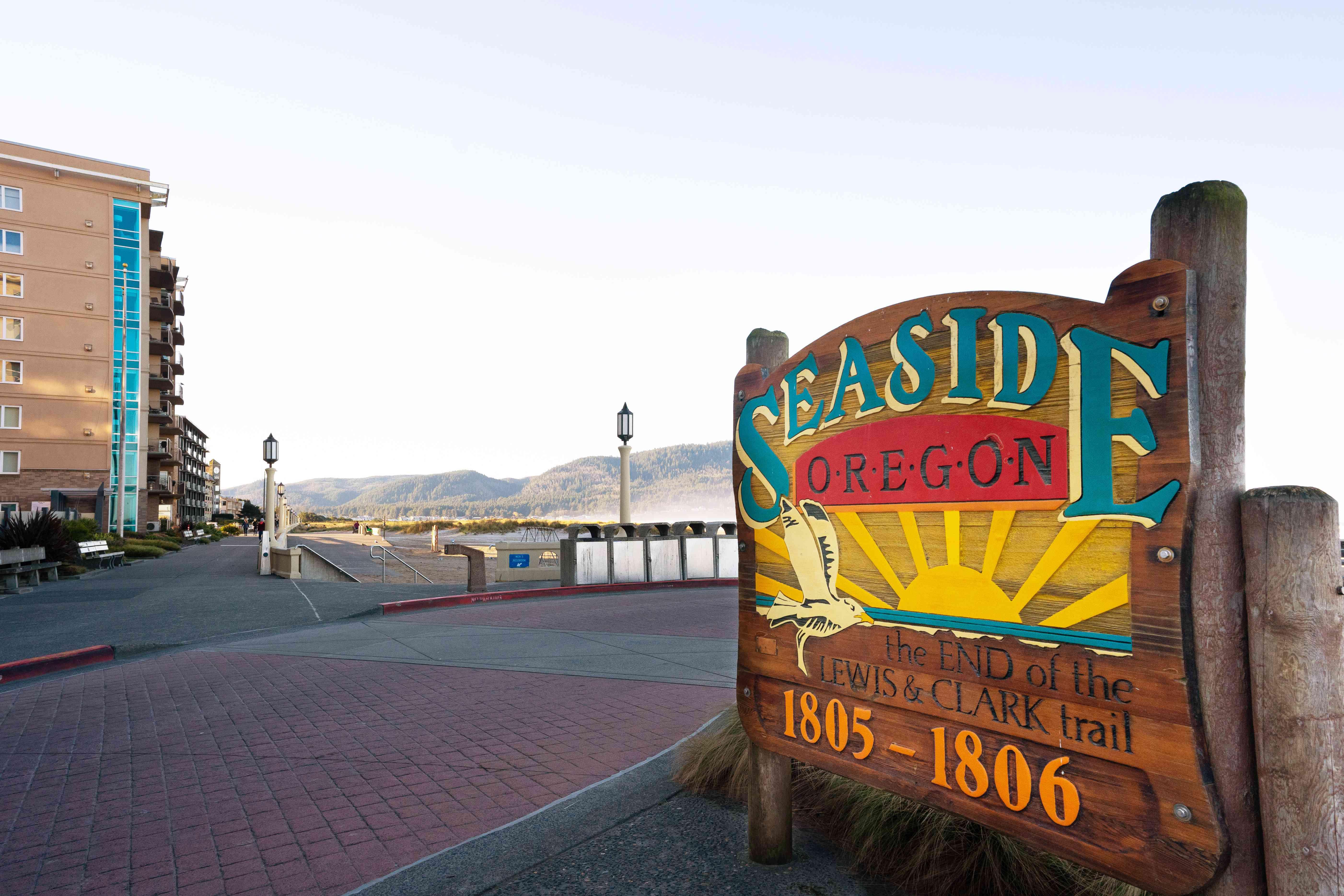 The beginning of the Seaside Promenade