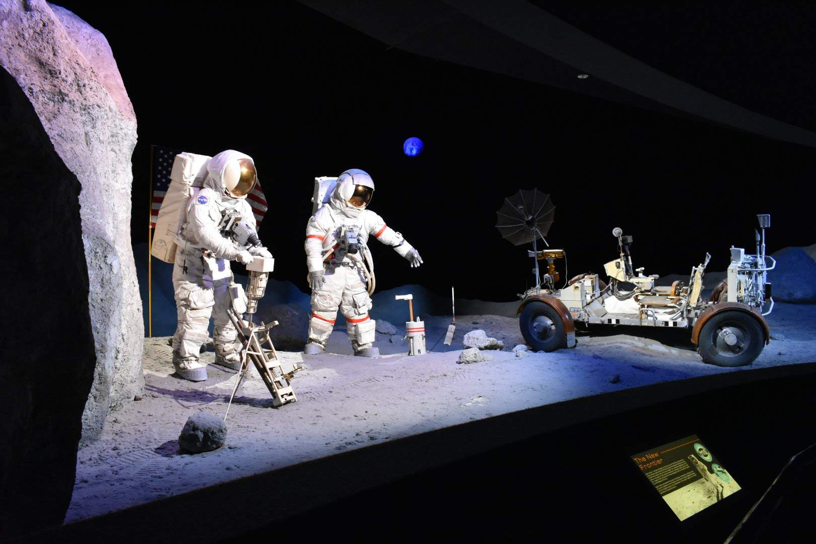 Exhibition of space suits at the space center