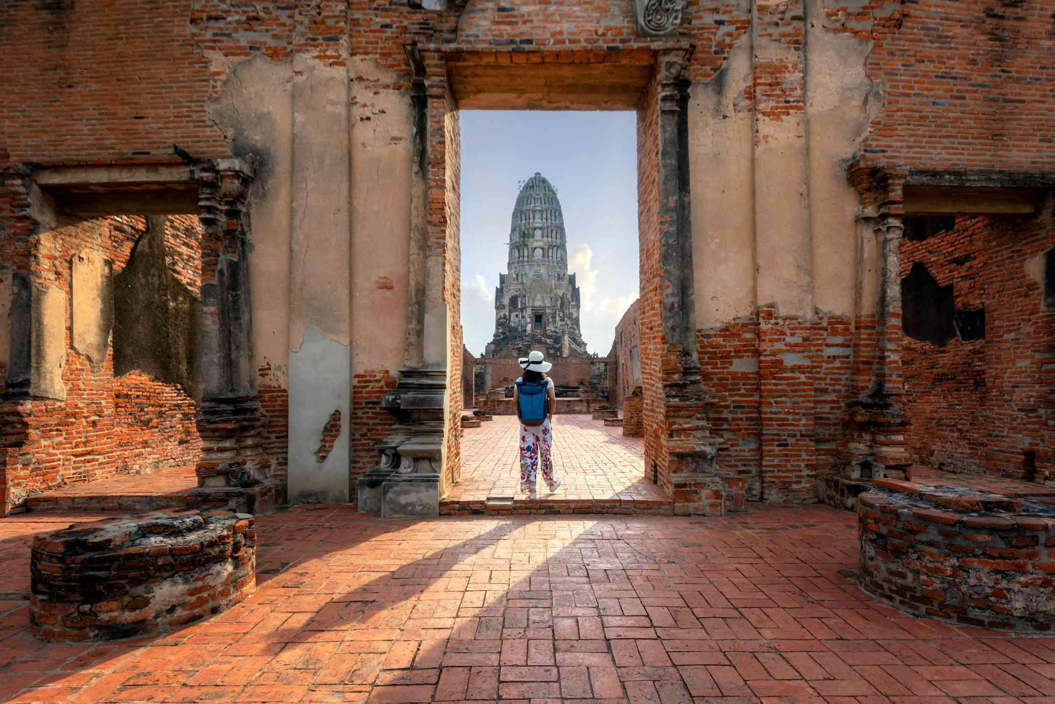 Tourist in Ayutthaya, Thailand