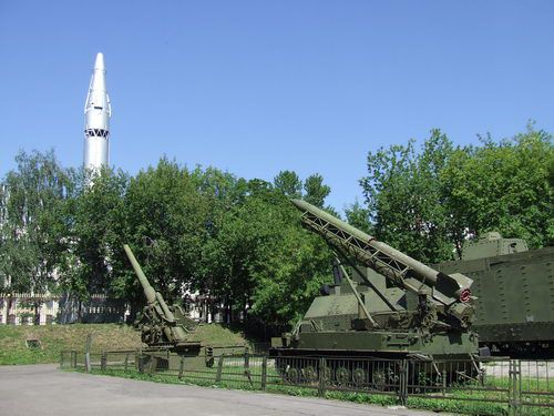 Rocket Launchers and Missiles at the Central Museum of Armed Forces in Moscow
