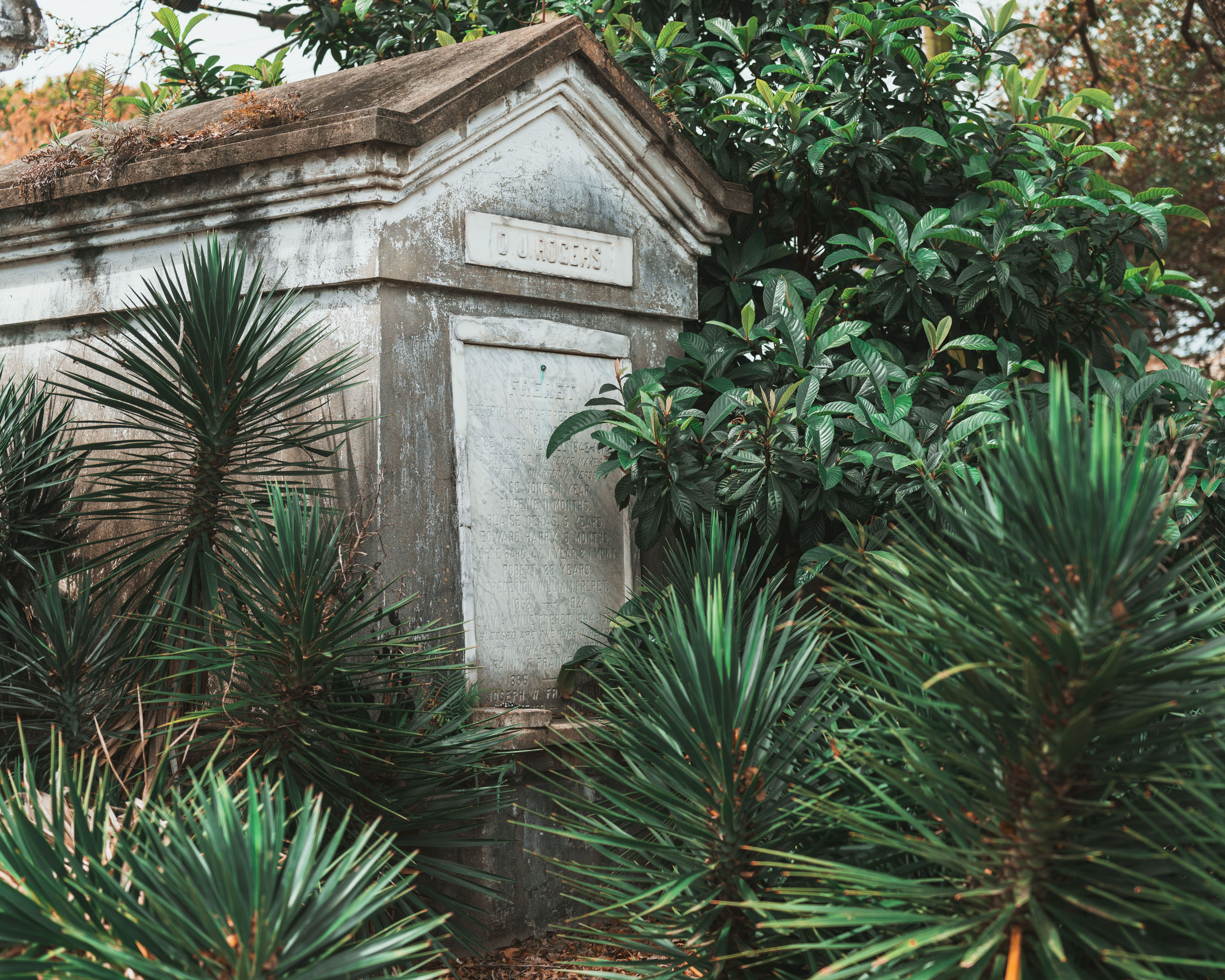 A tomb in a cemetery in New Orleans