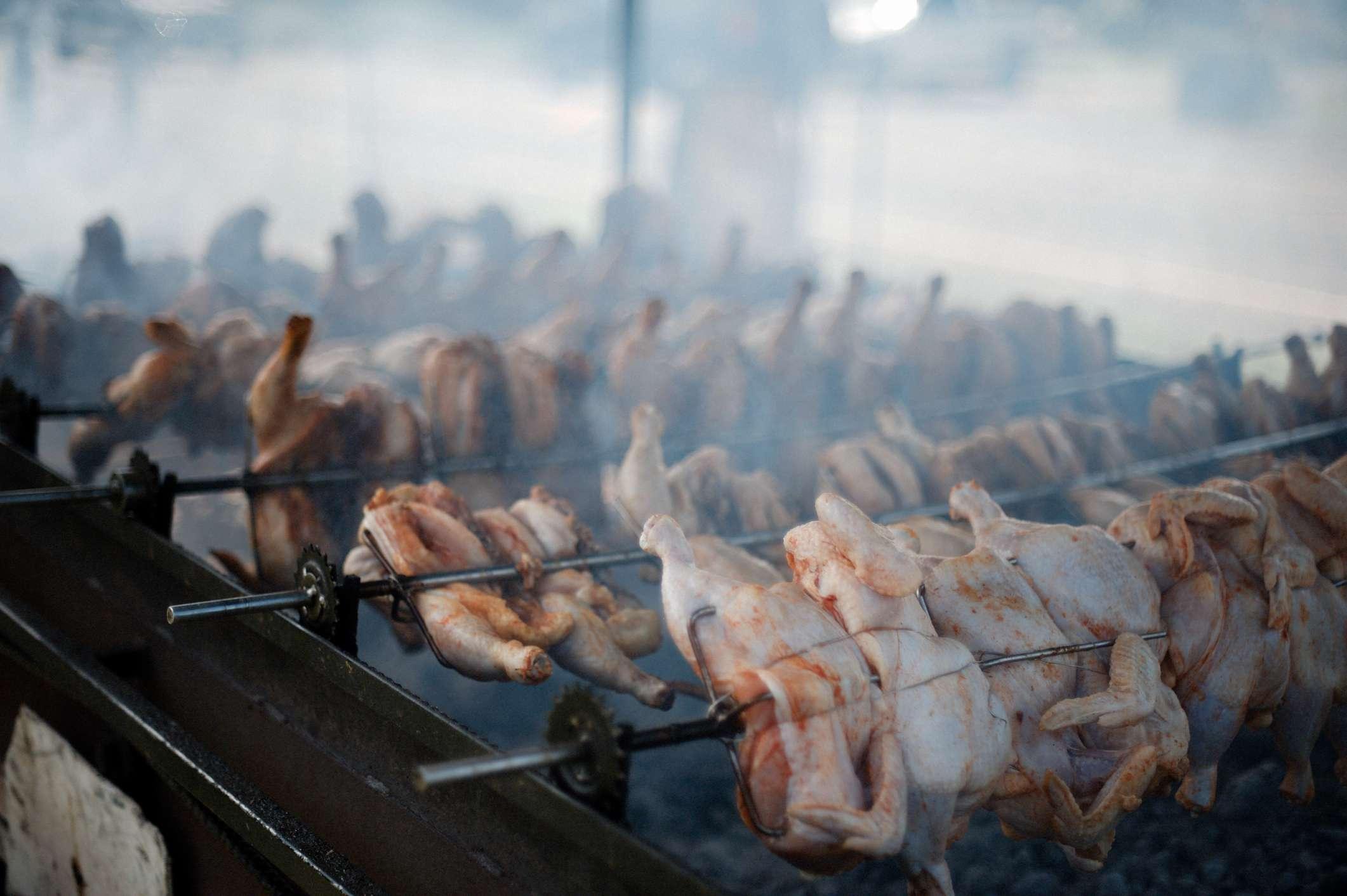 Huli Huli Chicken at the farmers market in Waimea