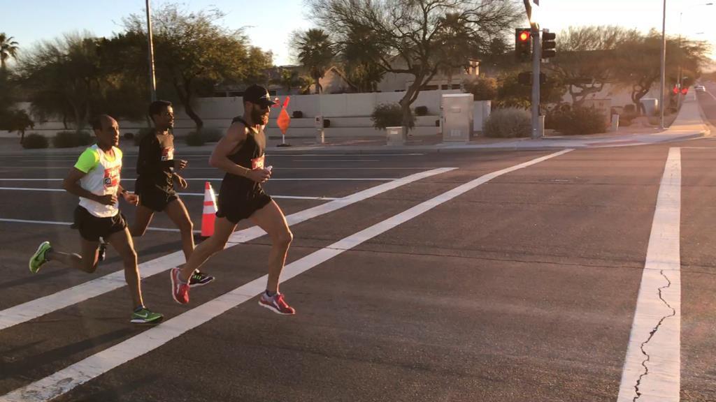 Runners in the Mesa Marathon