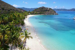 Aerial view of peter island, British Virgin Islands