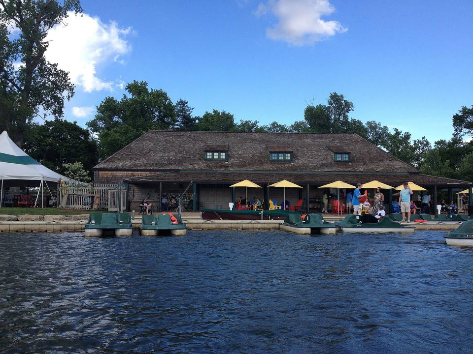 Boathouse in Forest Park