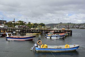 Harbor of Ancud, Chiloé Archipelago, Chile