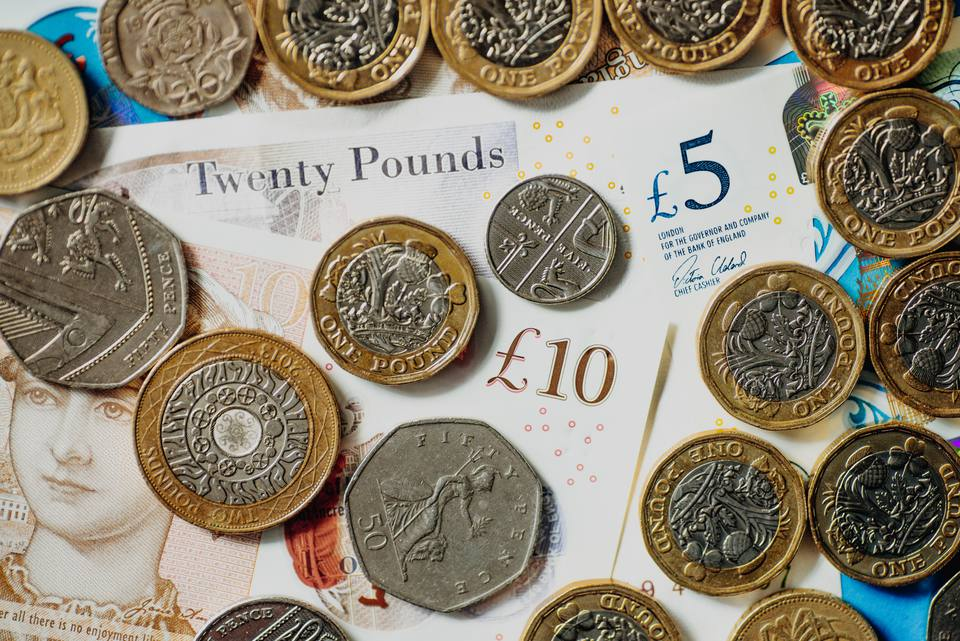 British Coins And Us Penny Great Britain Pound Currency